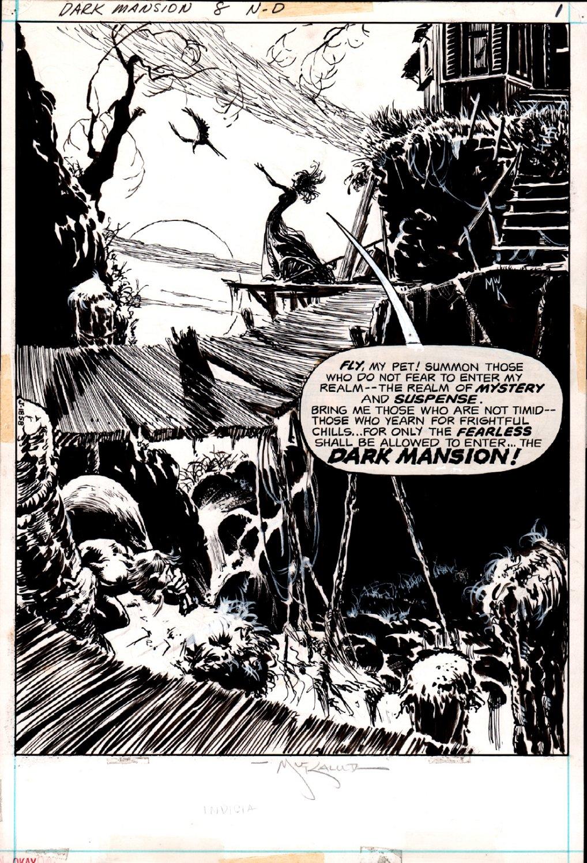 Forbidden Tales of Dark Mansion #8 p 1 Frontis SPLASH (1972)