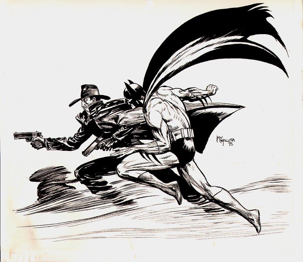 Stunning 1975 Batman / Shadow Pinup!