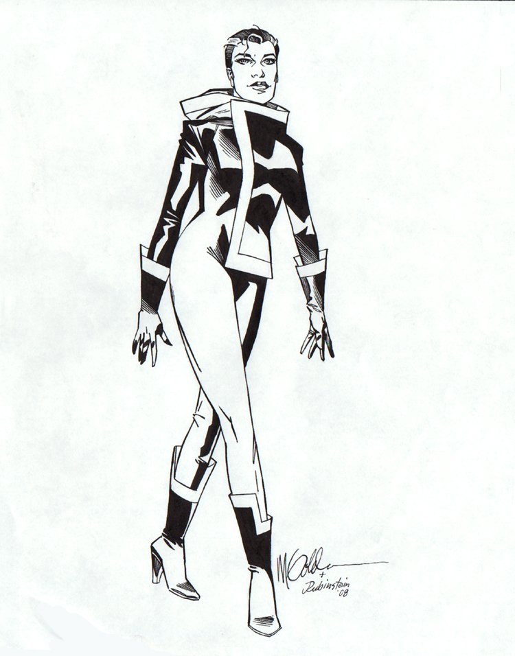 Rogue Pinup Over Michael Golden Lightbox (2008)