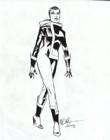 Rogue Pinup Over Michael Golden Lightbox (2008) Comic Art