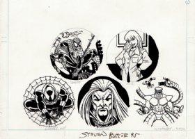 5 Pinups For Spider-Man Herocaps (1995) Comic Art