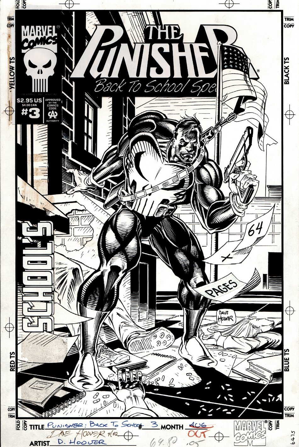 Punisher Back to School Special #3 Cover (1994)