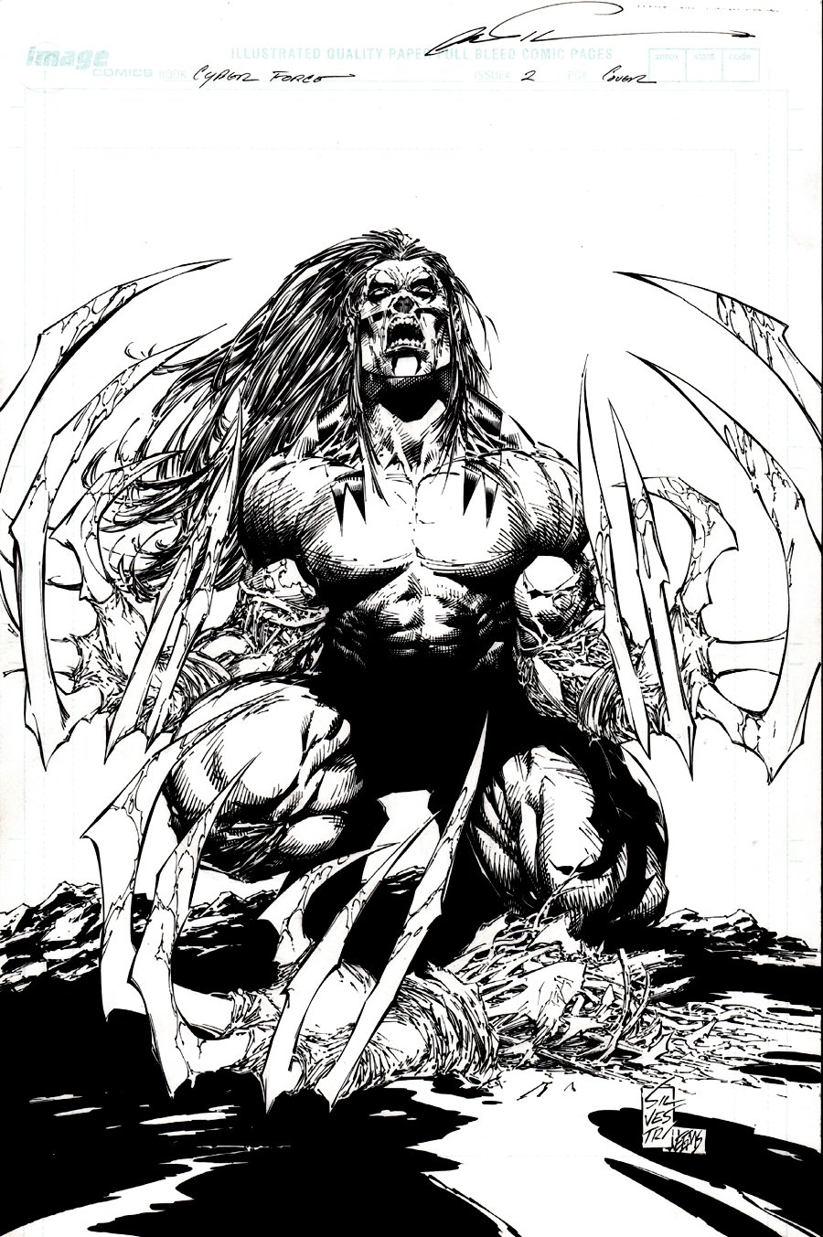 Cyberforce #2 Cover (Awesome Ripclaw, Used For 2 Covers!) 2006