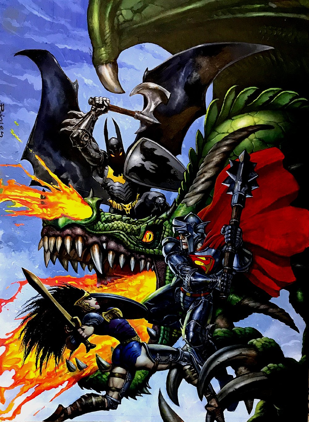 Dark Nights Metal #1 HUGE Cover Painting