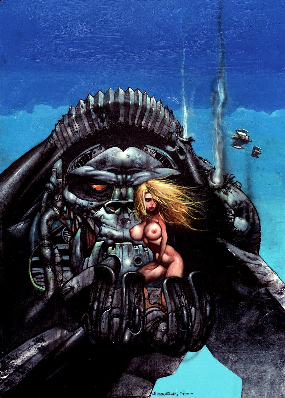 'The Princess And The Ape' Painting (Published In The Art Of Simon Bisley) 2000