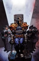 Deathstroke #4 Huge Cover Painting Comic Art