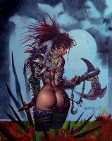 Bisley Sexy Published Poster Painting: 'Harvest Moon' (Large) 2008 Comic Art