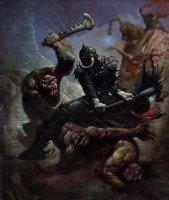 Death Dealer Painting (Huge!) Comic Art
