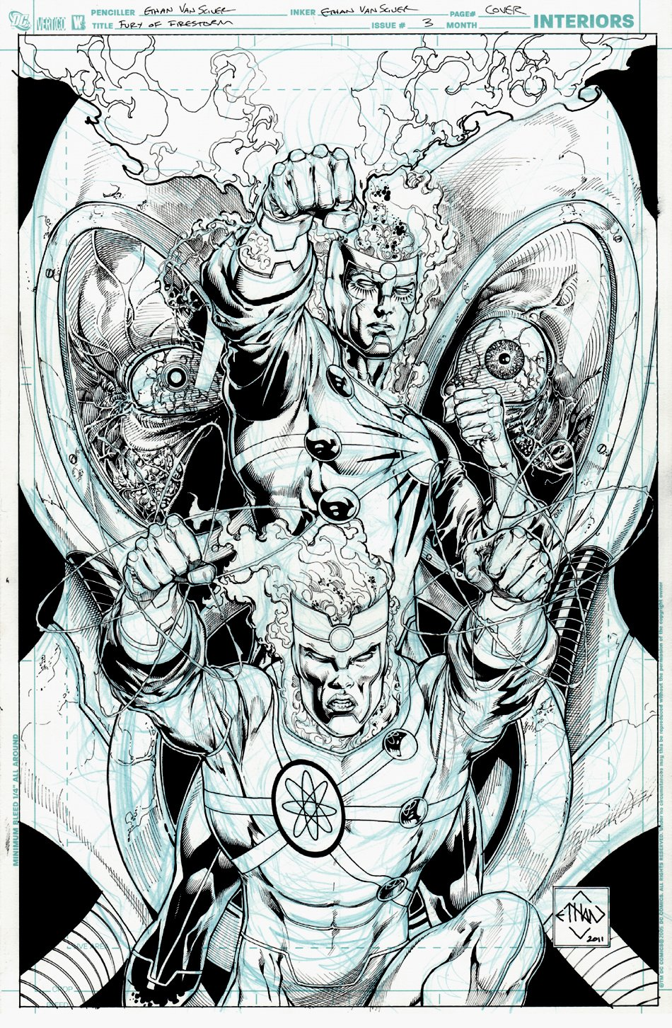 Fury of the Firestorms #3 Cover (2011)