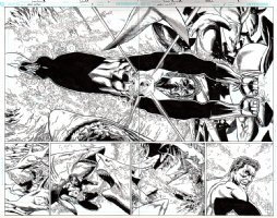 Green Lantern Issue 5 Page 6-7 Double Spread Splash (2005) Comic Art
