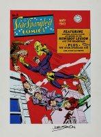 Star Spangled Comics #8 Cover Recreation (1975) Comic Art