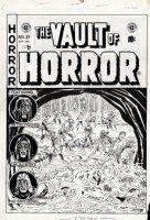 Vault of Horror #27 Cover (Large Art) 1952 Comic Art