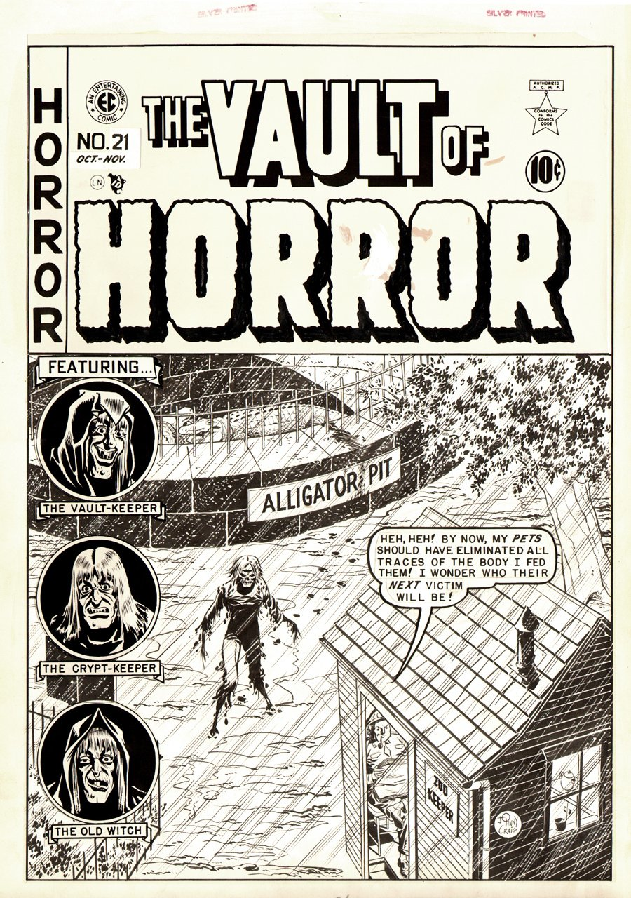 Vault of Horror #21 Cover (Large Art) 1951