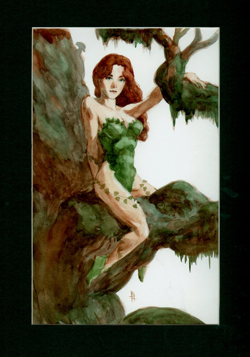Poison Ivy Painted Card Art