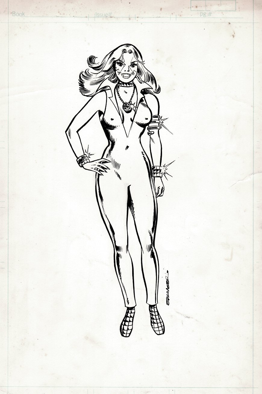 The Official Handbook of the Marvel Universe #3 'FIRST DAZZLER PINUP IN THIS SERIES' (1982)