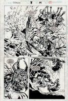 Conan: River of Blood #3 p 19 Semi-Splash (1998) Comic Art