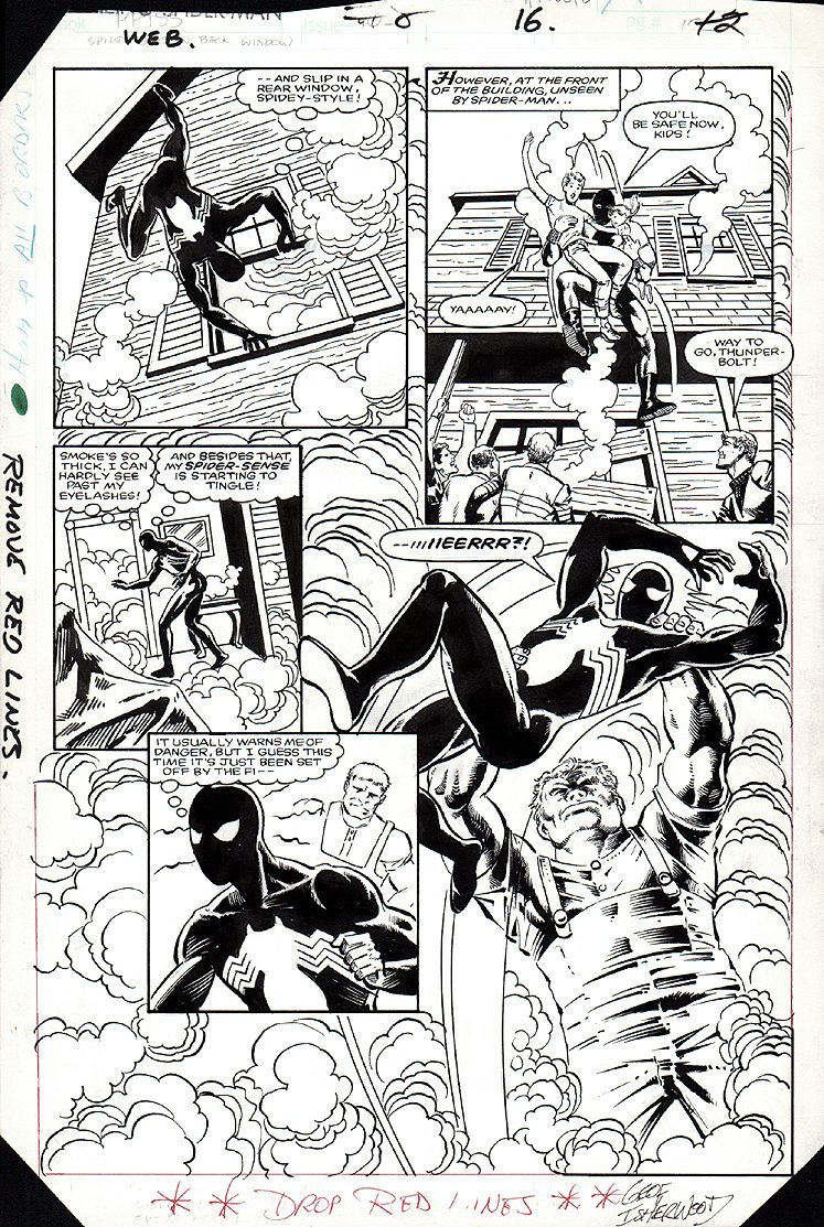 Web of Spider-Man #8 p 16 SEMI-SPLASH (1985)