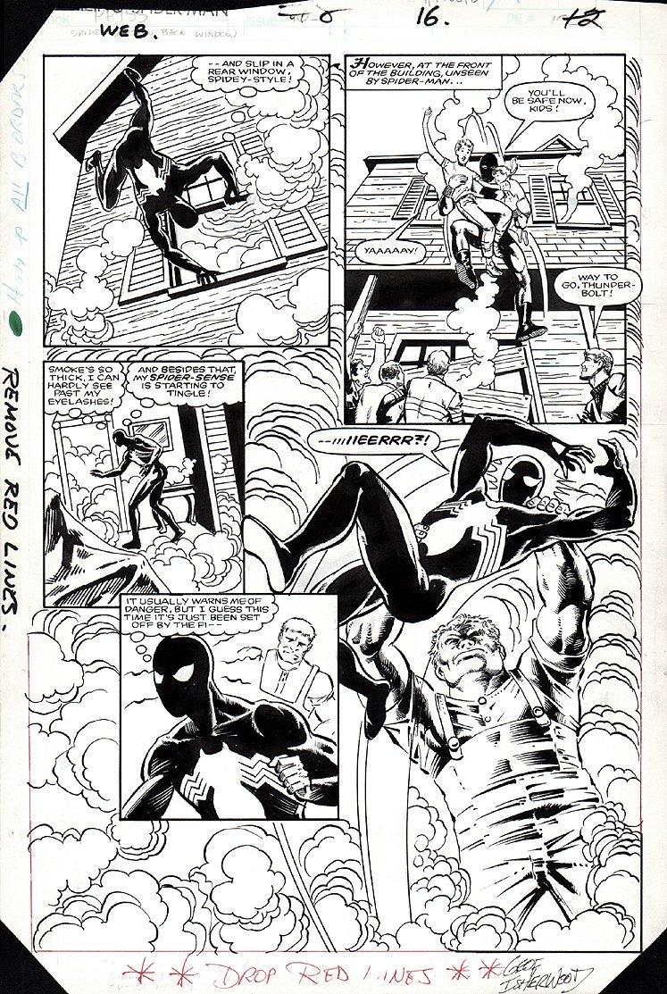 Web of Spider-Man #8 p 16 SEMI-SPLASH (1985)