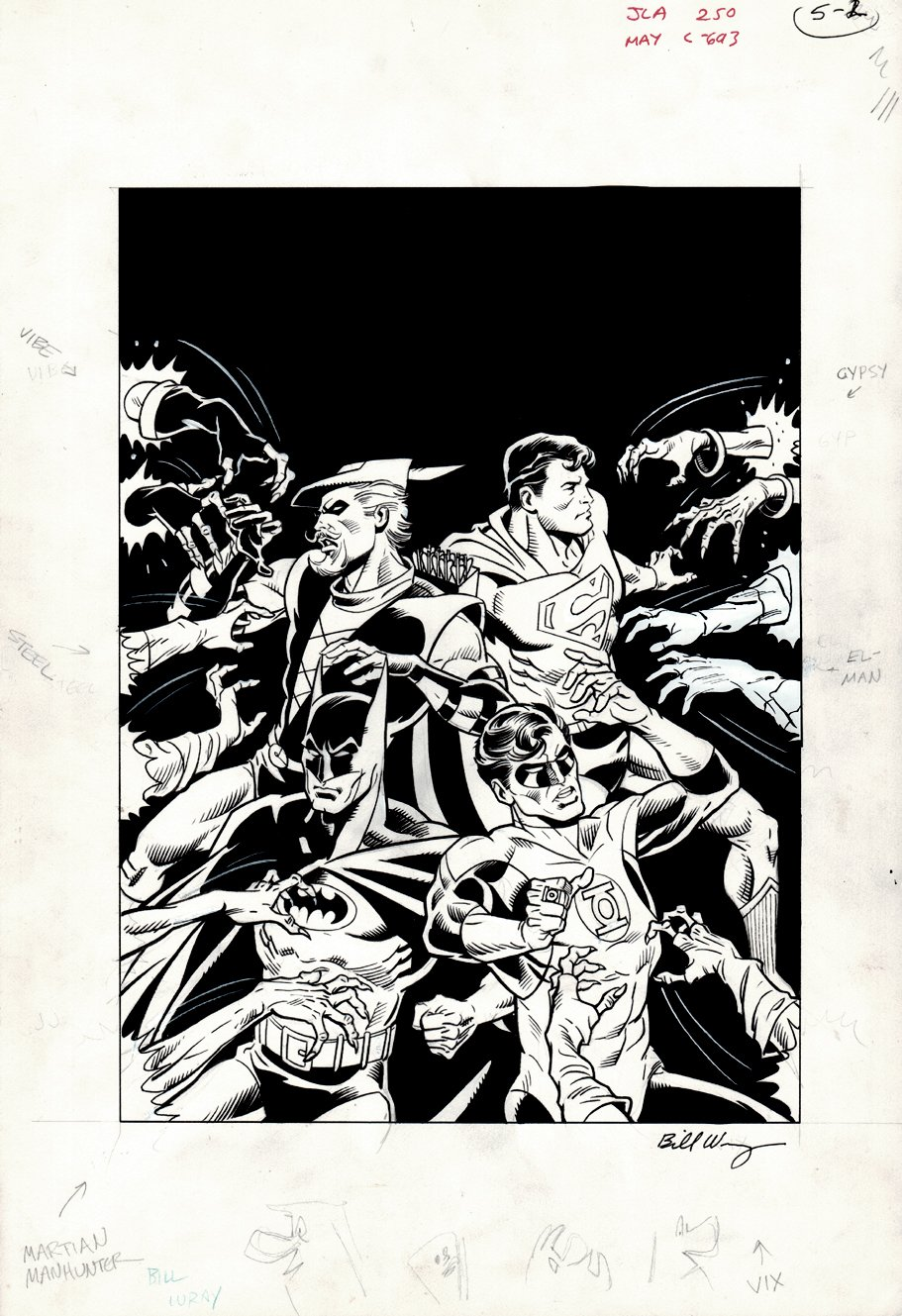Justice League of America #250 ANNIVERSARY COVER! (1986)