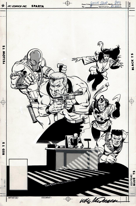 Suicide Squad #8 Cover (Unused) 1987