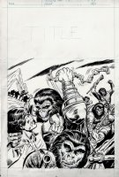 Planet of the Apes #76 Cover (1976) Comic Art