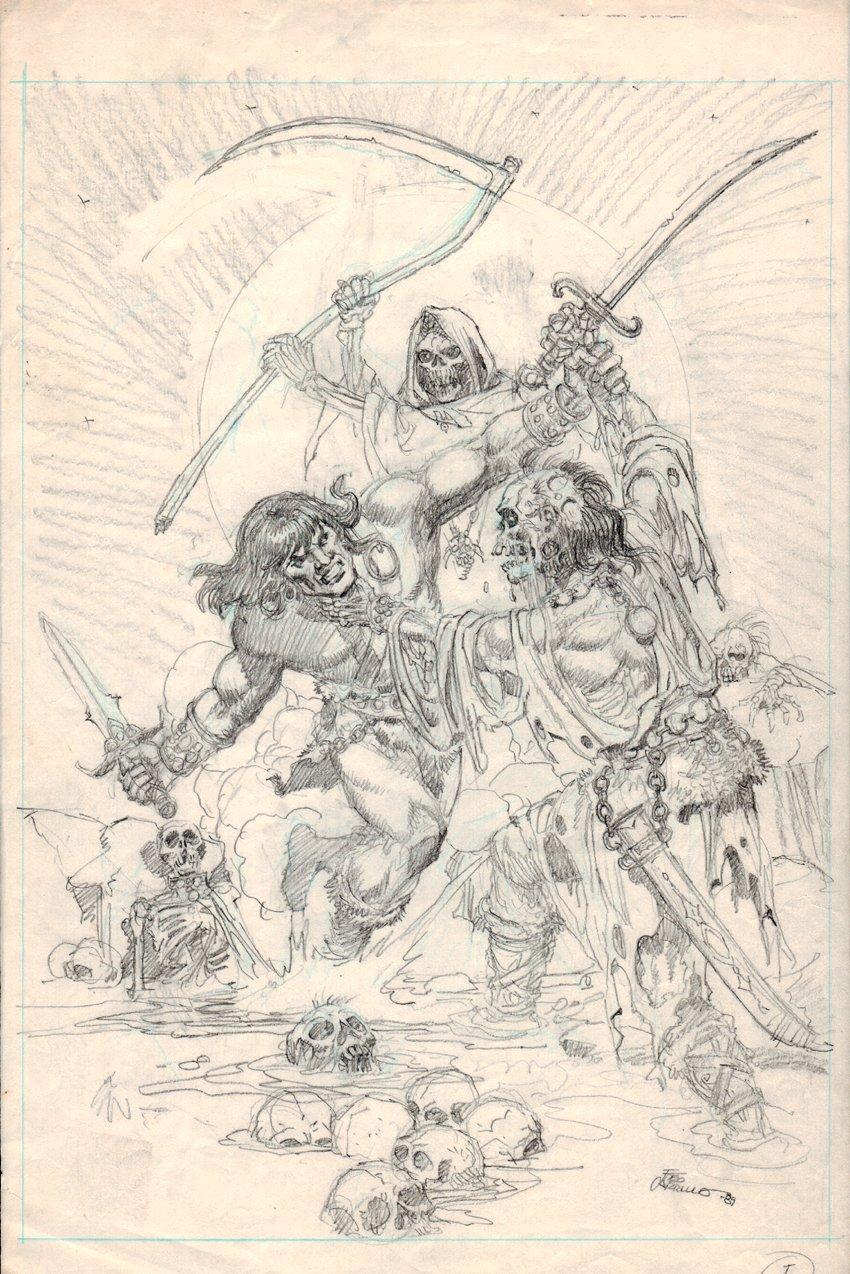 Conan Pencil For Savage Sword Of Conan Splash (1989)