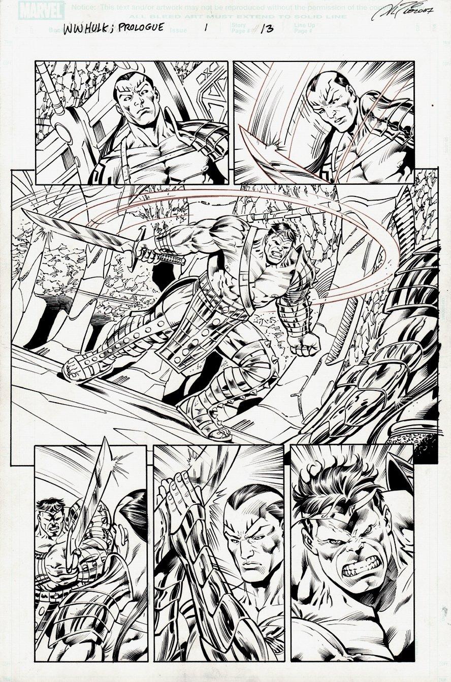 World War Hulk Prologue: World Breaker #1 p 13 SPLASH (2007)