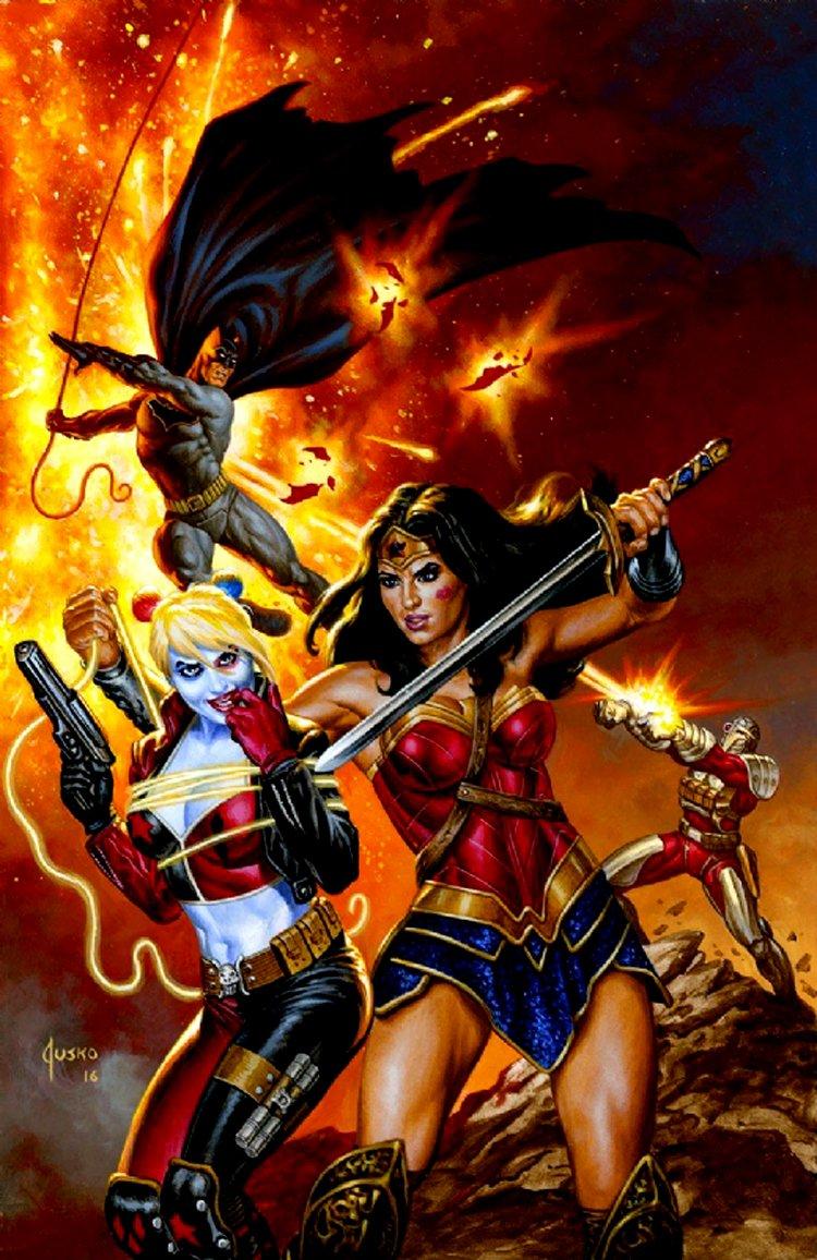 Justice League Vs. Suicide Squad #1 Cover Painting (2016)