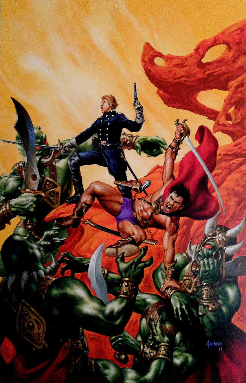 John Carter: Warriors Of Mars #2 Cover Painting (LARGE)