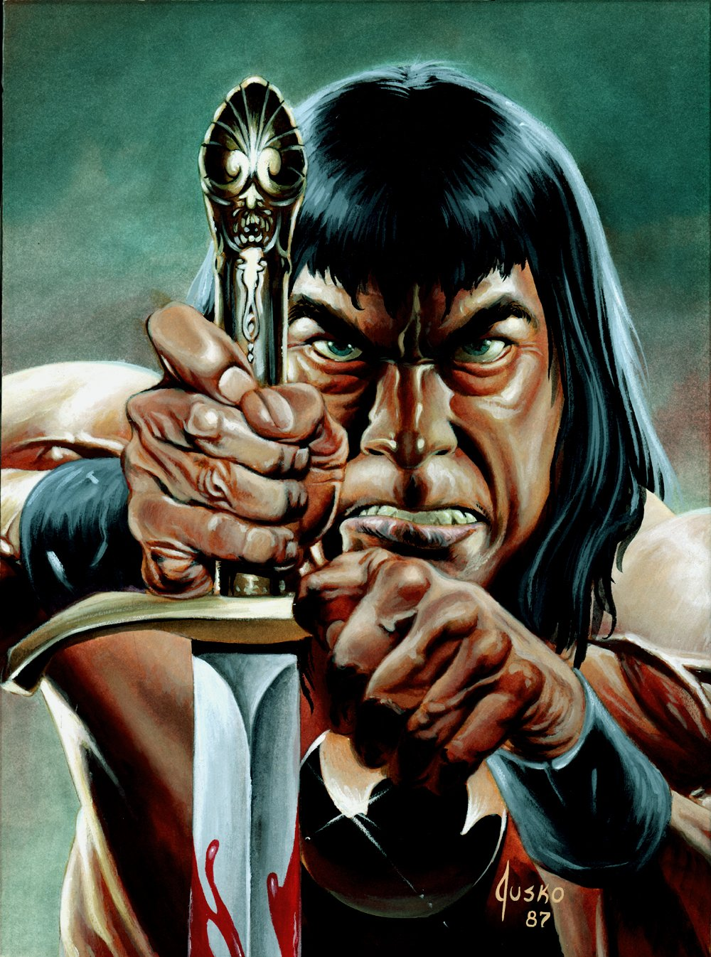 Savage Sword of Conan #139 Cover Painting (1987)
