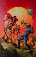 John Carter: Warriors Of Mars #1 Cover Painting (LARGE) Comic Art