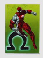 Marvel Masterpieces 1992 Painting 'OMEGA RED' Card #96 Comic Art