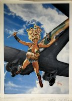 Savage Tales #8 Marvel Cover Painting (Very Large) 1986 Comic Art