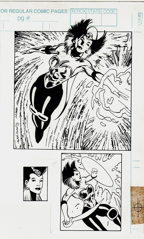 'Cerise' X-Men Series 2  Front / Back Card Art (1993)