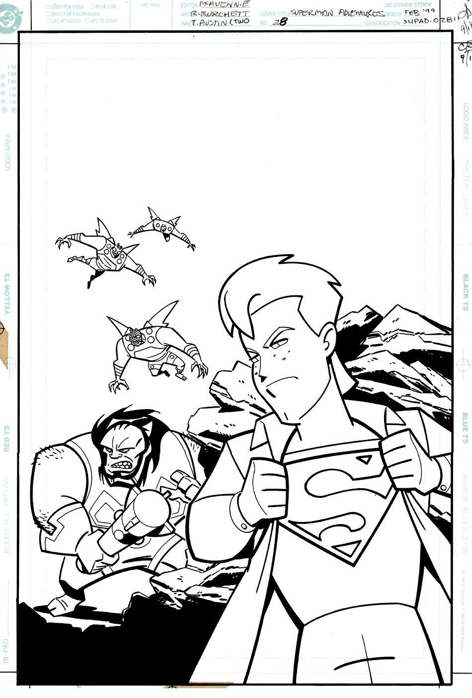 Superman Adventures #28 Cover (1998)