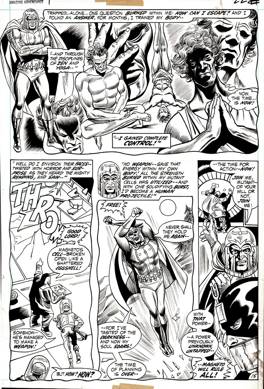 Amazing Adventures #9 p 15 (BILL EVERETT INKS!) 1971