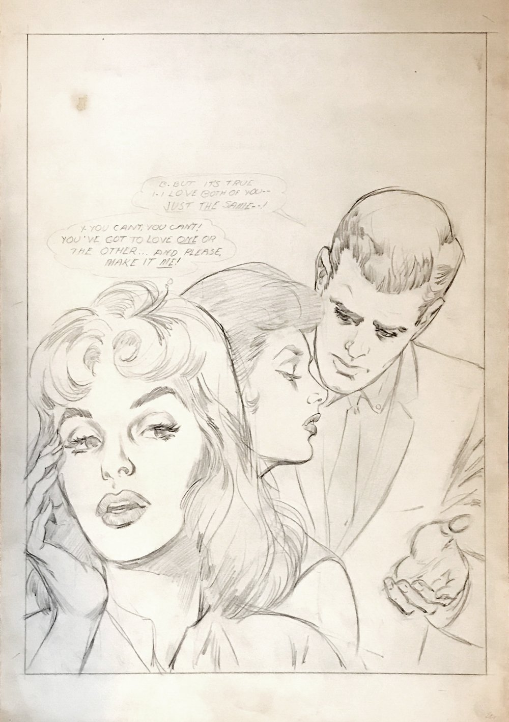 1960's DC Penciled Romance Cover (Large Art)