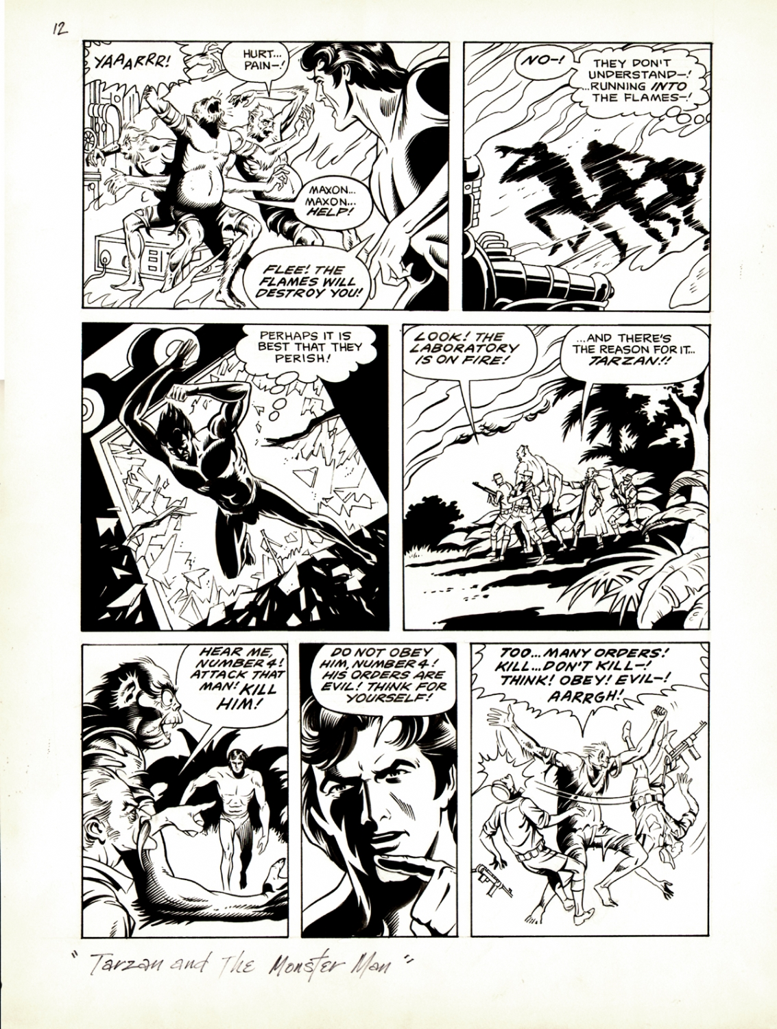 Tarzan Weekly #2 p 12 (Large Art) 1977