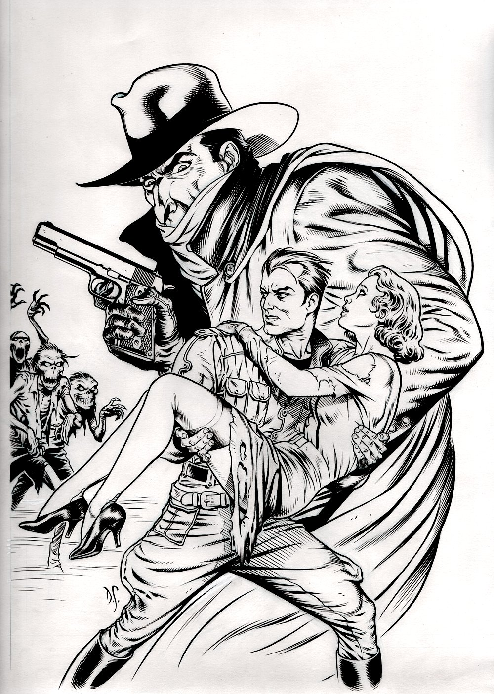 The Shadow and Doc Savage #1 Published Cover (1995)