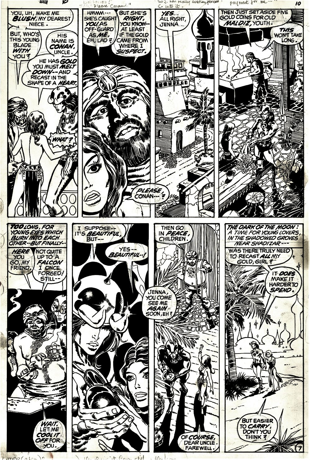 Conan the Barbarian #6 p 7 (1971)