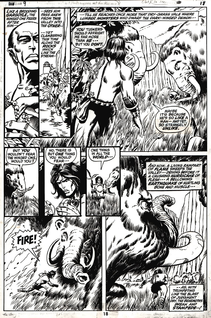 Conan the Barbarian #9 p 18 (1971)