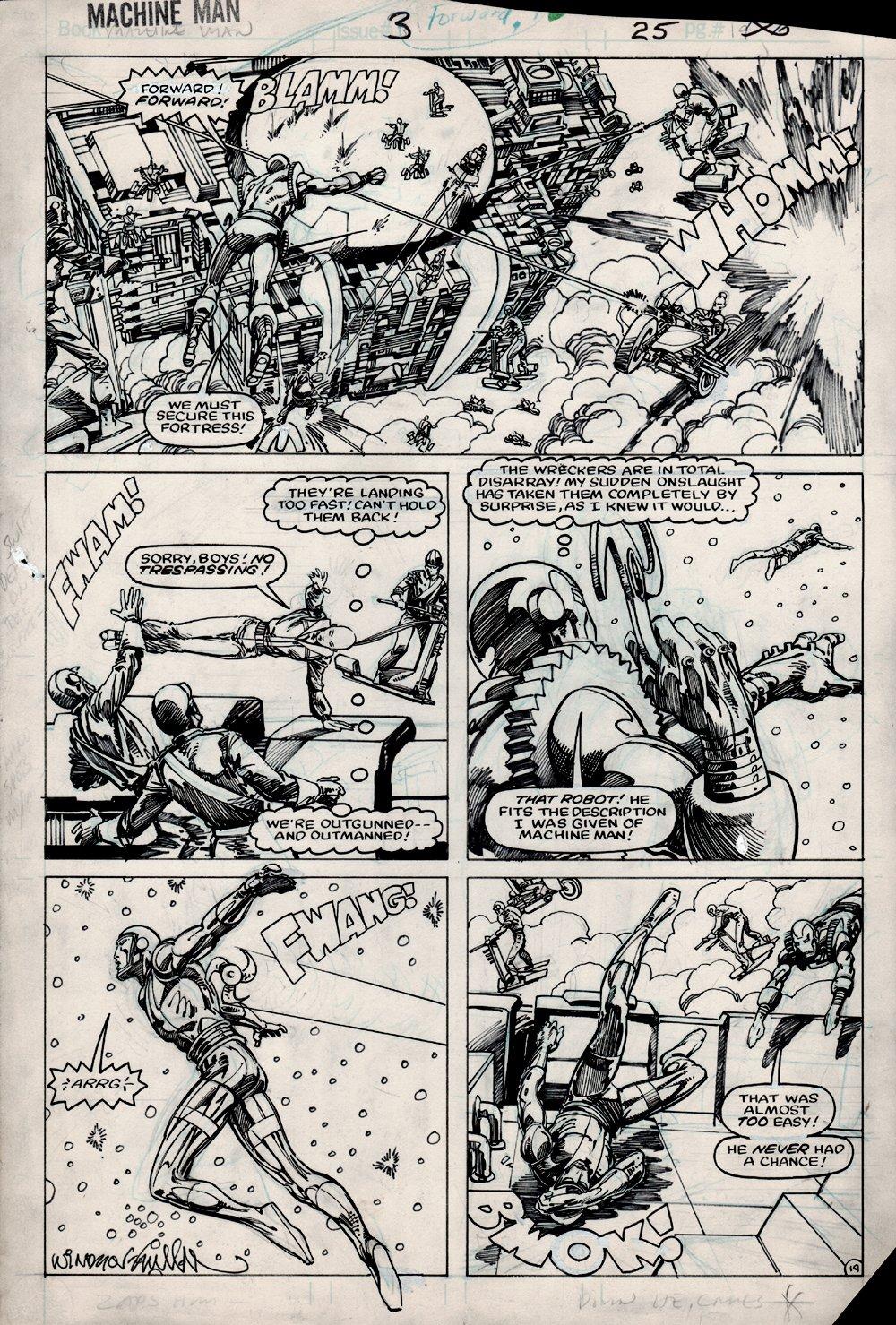 Machine Man #3 p 19 (1984)
