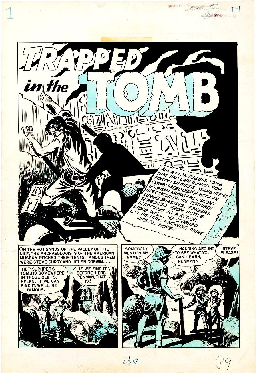 Crime Patrol #16 Complete 7-Pg Story (Large Art) 1950