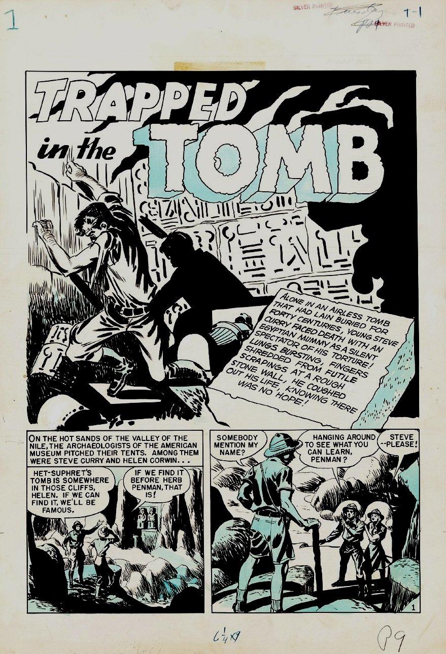 Crime Patrol #16 Complete 7-Pg HORROR Story (Large Art) 1950