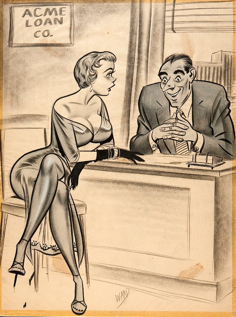 Bill Ward Humorama Cartoon Illustration