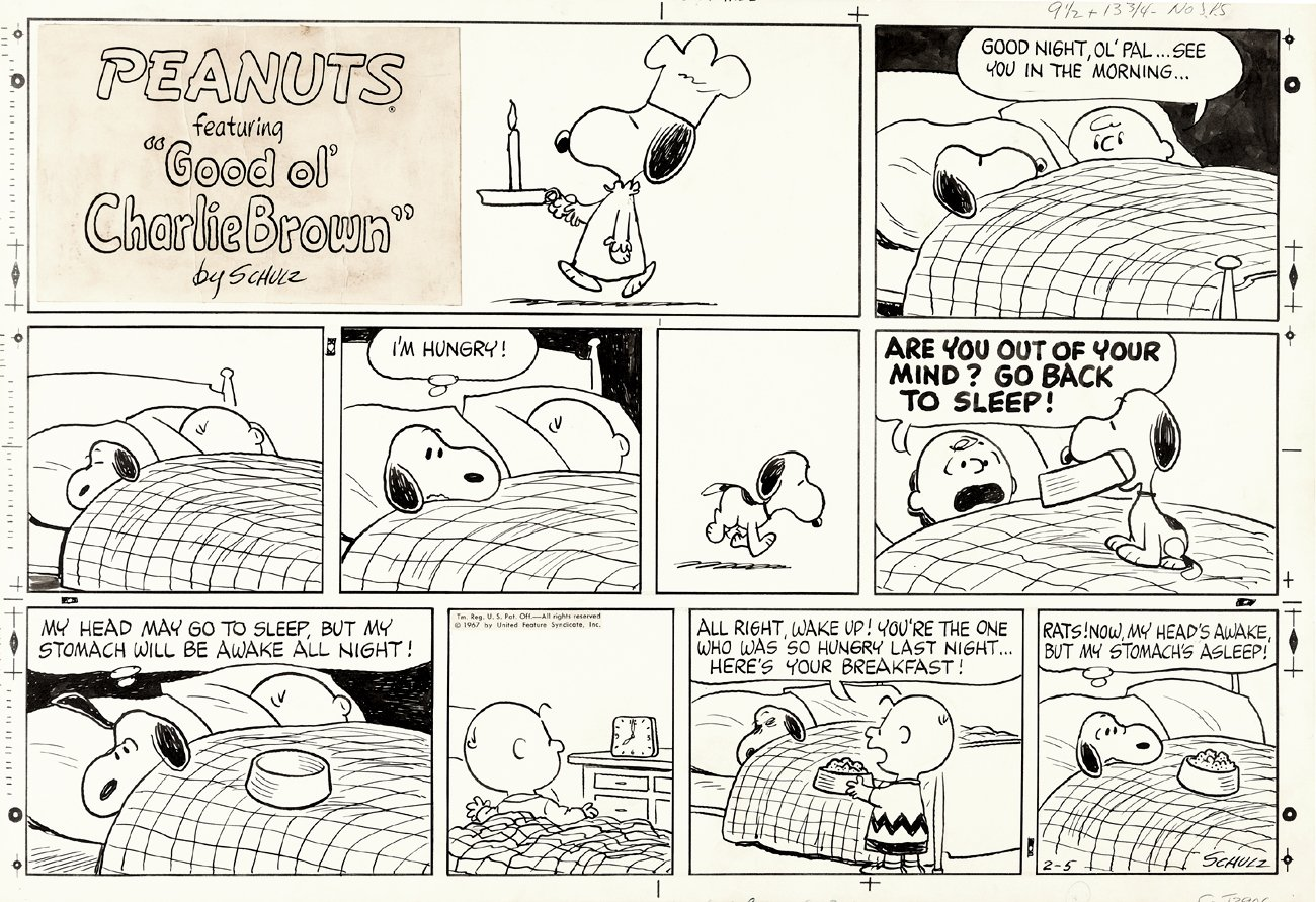 Prime Era Peanuts Sunday Strip (2-5-1967)
