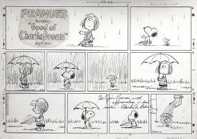 'EARLY WOODSTOCK' With SNOOPY Peanuts SUNDAY Strip 4-26-1970 Comic Art