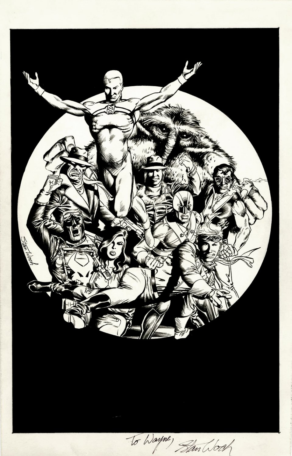 Miracleman - Total Eclipse Published Promo Ad Pinup (9 Characters!) 1980s