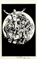Miracleman - Total Eclipse Published Promo Ad Pinup (9 Characters!) 1980s Comic Art