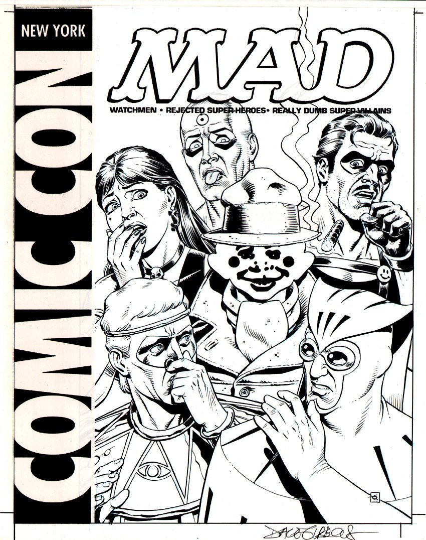 WATCHMEN 'MAD' Published Cover